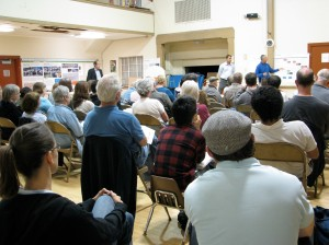 More than 60 neighbors attended the planning department presentation.