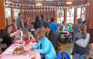 Valentine card making party at Sunnyside Conservatory. Photo by Bonnee Waldstein.