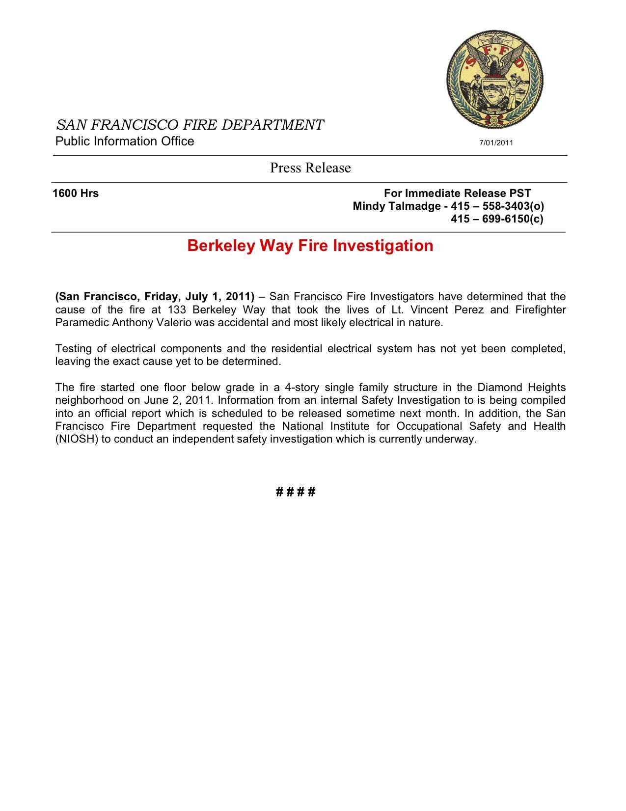 fire investigation reports