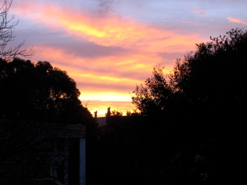 Sunrise from Chenery St. Dec. 15, 2012.