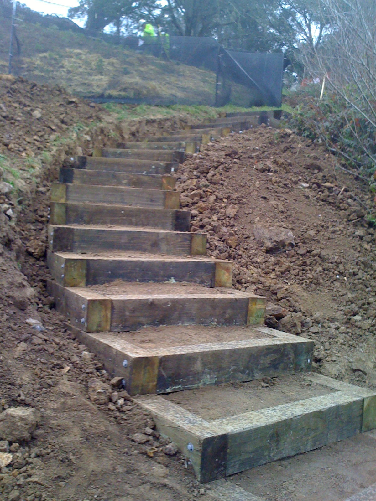 Outdoor stair lift - Stairs Close