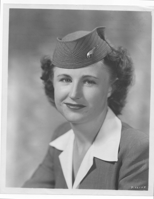 Edith Lauterbach when she was a flight attendant in the 1940s