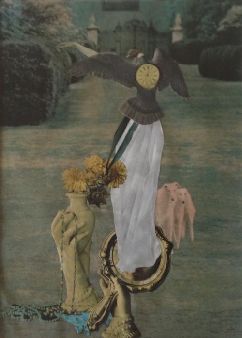 Jean Conner Formal Garden Paper collage, 1966 12 3/4 x 9