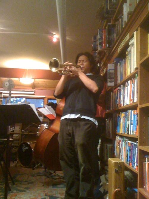 Jazz trumpeter Henry Hung performing at Bird & Beckett.
