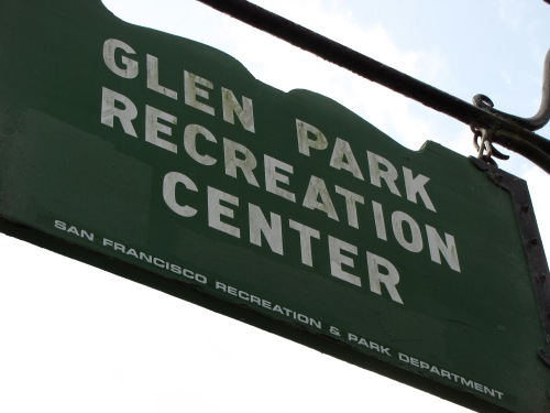 Glen Park Rec Center sign