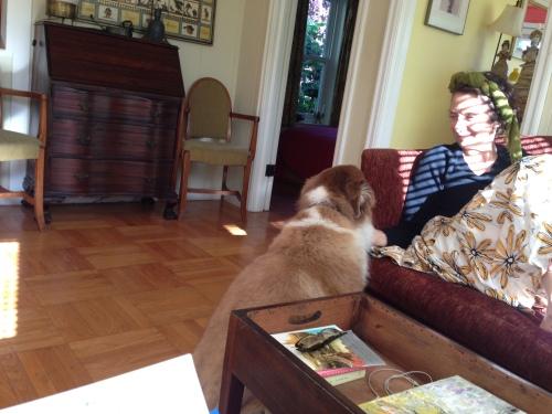 Alma and dog