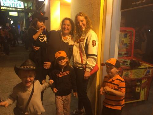 Giants fans--all born 2010, the first win in 50 years. Photo Catherine Hazelton
