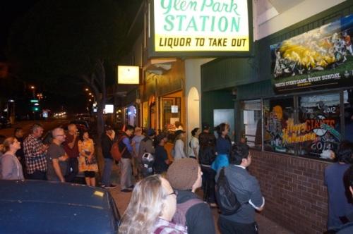 Waiting outside the Glen Park Station.. Photo: Steven Labovsky