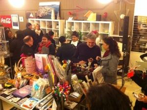 Modern Past December 12, 2014 event, Noche de la Virgen. Mia Gonzalez seen among her many friends.