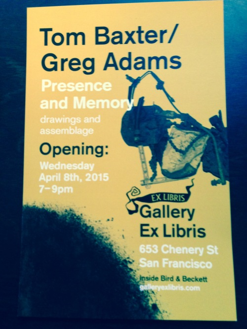Gallery ExLibris poster April 2015