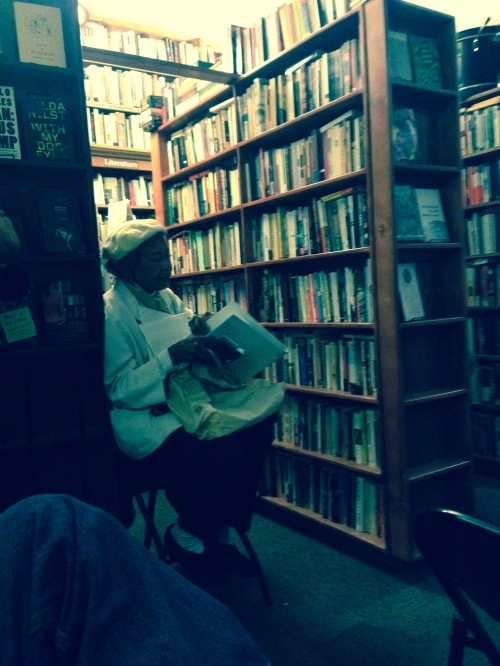 Dorothy Lefkovits looking over lyrics.