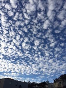 An amazing, cloud-filled sky over Glen Park. Captured by Bonnee Waldstein on Sept. 26, 2015.