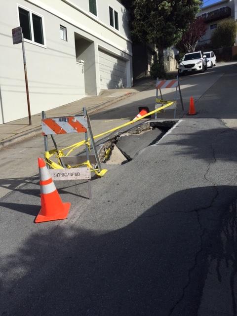 Surrey street sink hole