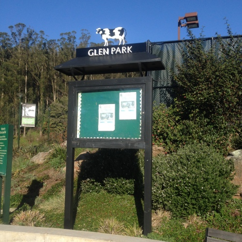 Glen Park Cow sign new